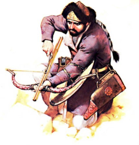 Turkish-warrior-with-bow-and-majra